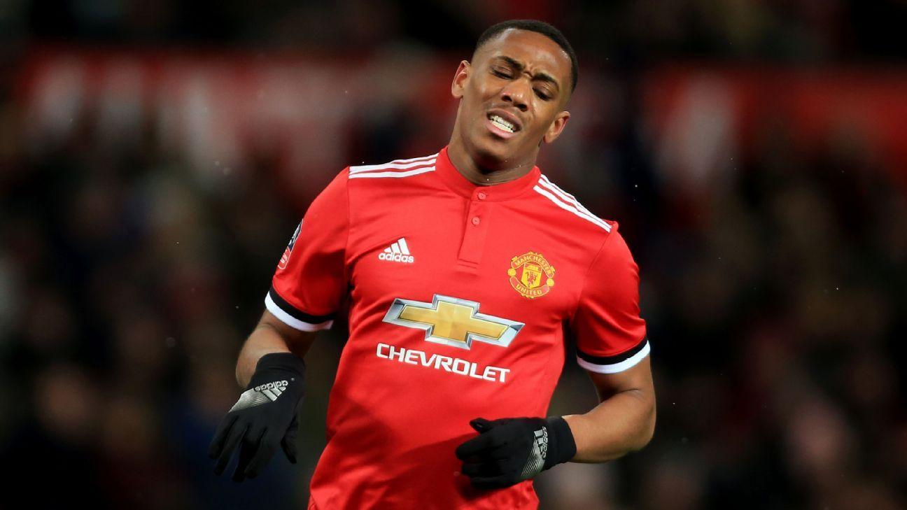 Man United forward Anthony Martial in action. (Getty Images)