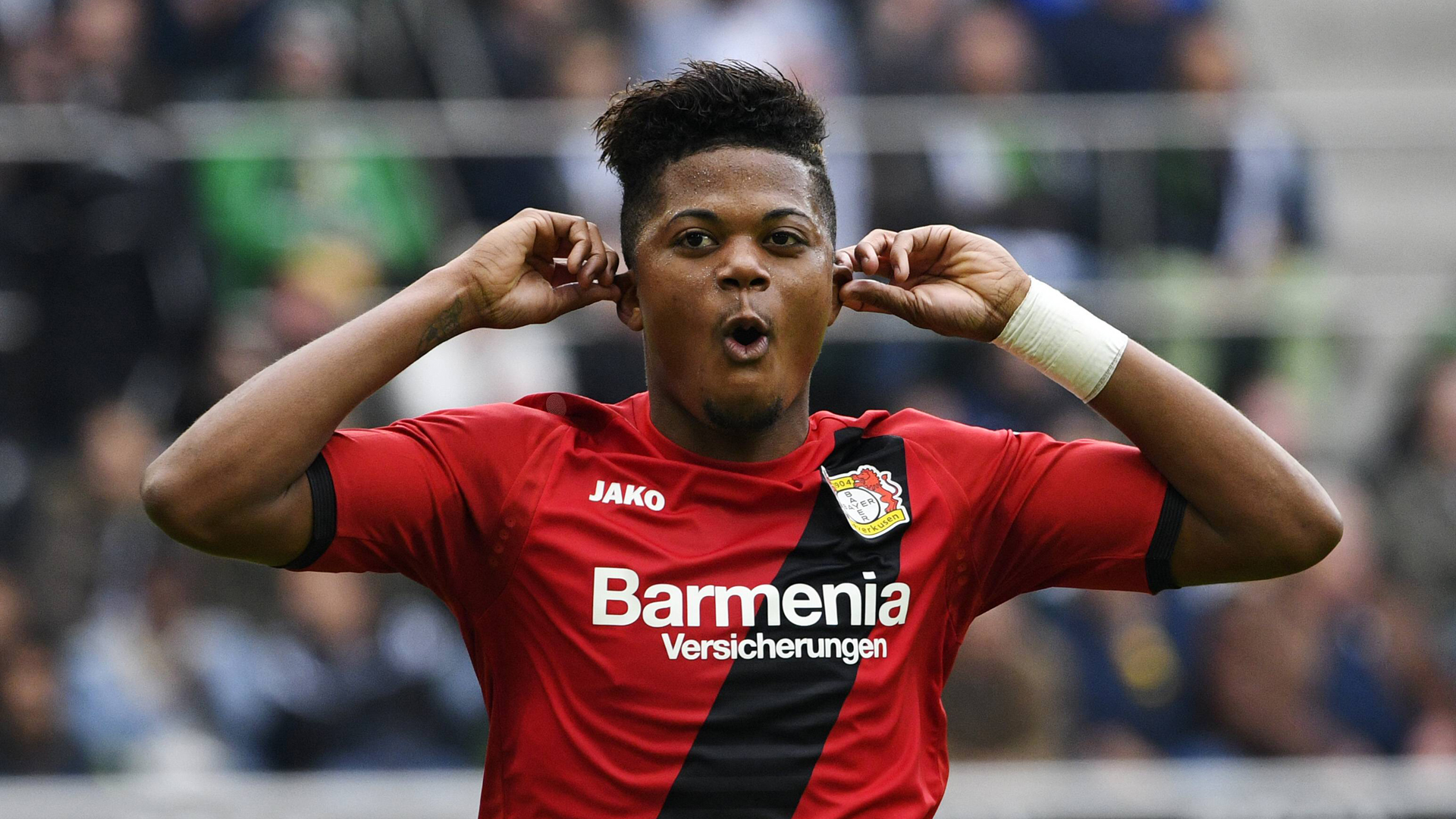 Leon Bailey celebrates after scoring a goal (Getty Images)