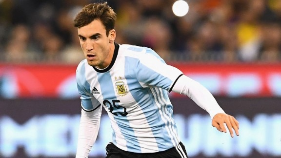 Nicolas Tagliafico in action for Argentina. (Getty Images)