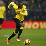 Watford midfielder Abdoulaye Doucoure drives forward with the ball. (Getty Images)