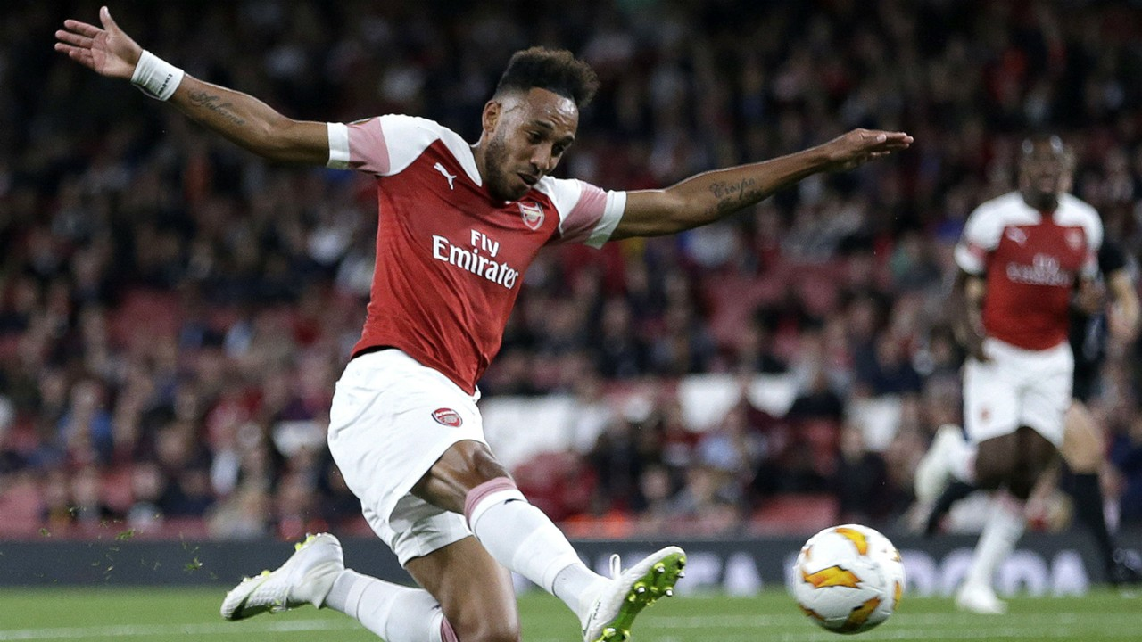 Manchester City have been tipped to sign Arsenal ace Pierre-Emerick Aubameyang (Getty Images)