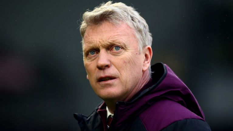 West Ham boss David Moyes looks on. (Getty Images)