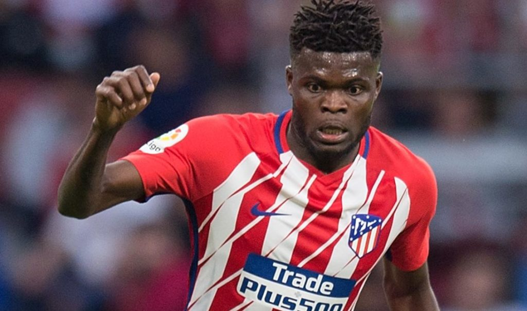 Atletico Madrid midfielder Thomas Partey in action. (Getty Images)