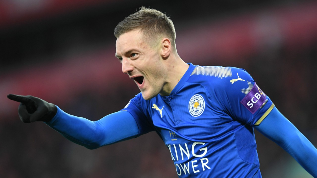 Leicester City's Jamie Vardy is the top scorer in the league this season (getty Images)