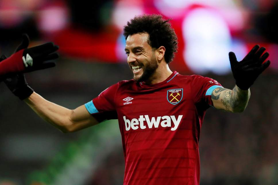 Felipe Anderson of West Ham celebrates after scoring a goal (Getty Images)