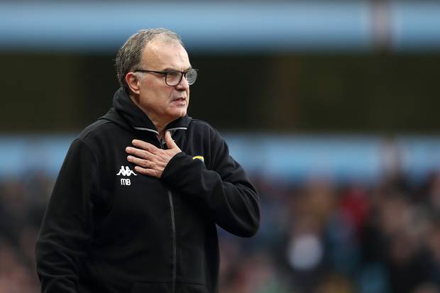 Leeds United manager Marcelo Bielsa on the touchline. (Getty Images)