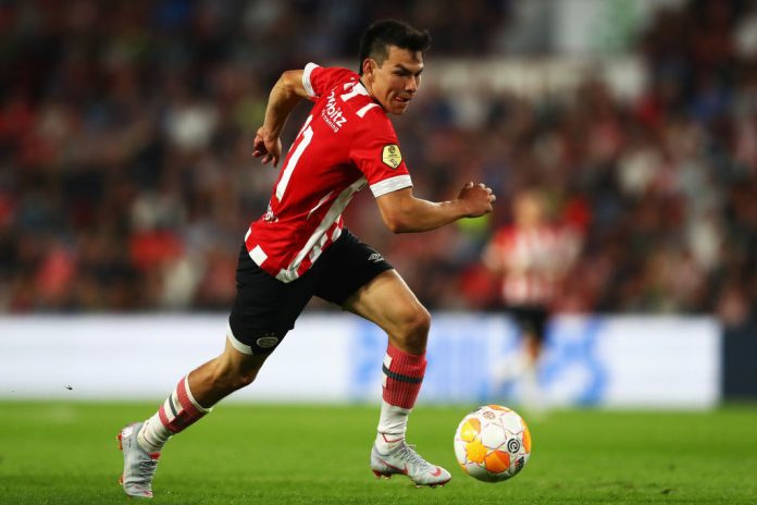 Hirving Lozano during his time at PSV Eindhoven. (Getty Images)