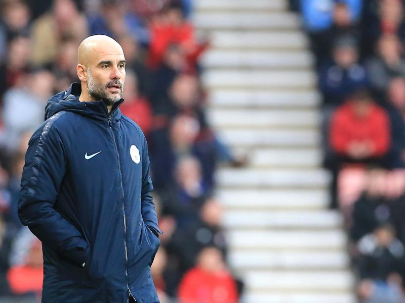Manchester City boss Pep Guardiola on the touchline (Getty Images)