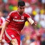 Middlesbrough defender Daniel Ayala clears the ball