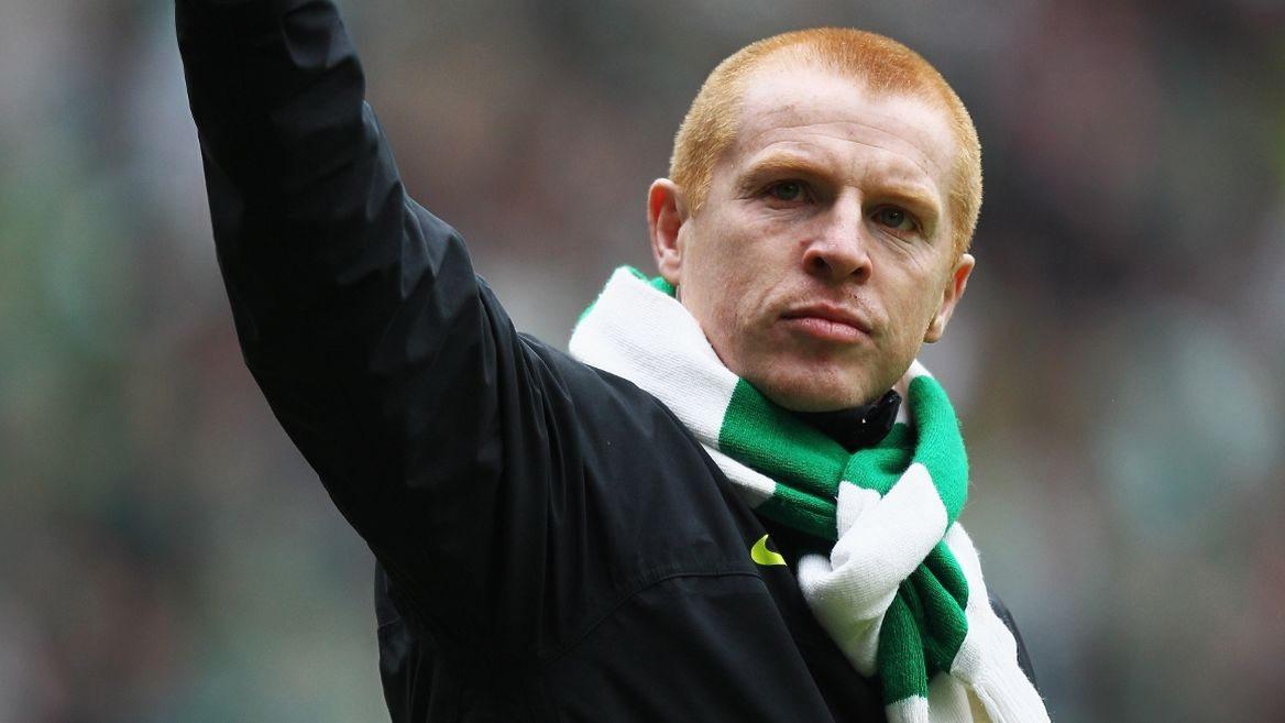 Celtic boss Neil Lennon after his side's victory in the Scottish Premiership last season.