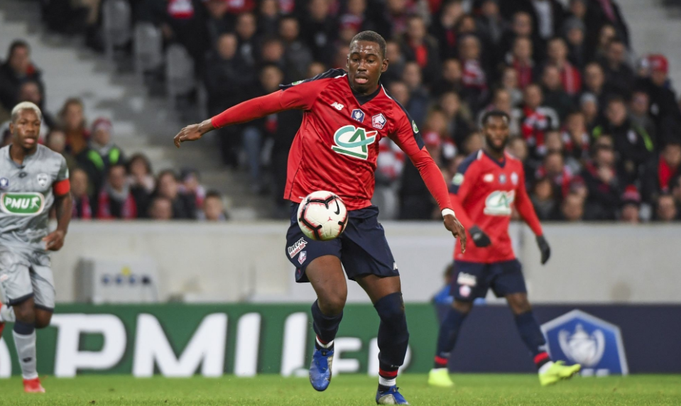 Lille midfielder Boubakary Soumare in action. (Getty Images)