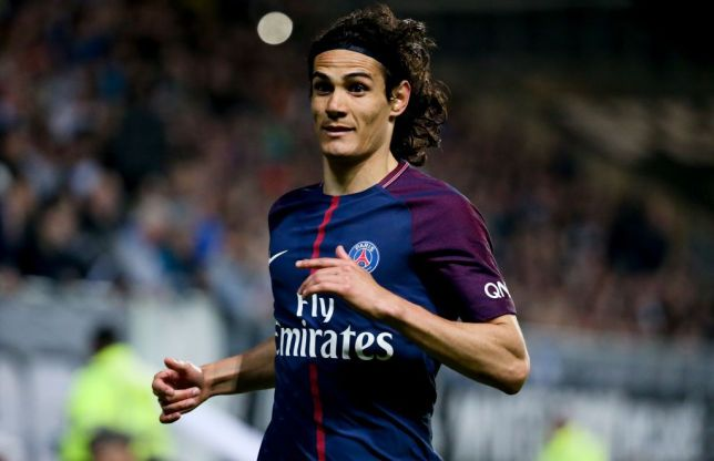 PSG striker Edinson Cavani in action. (Getty Images)