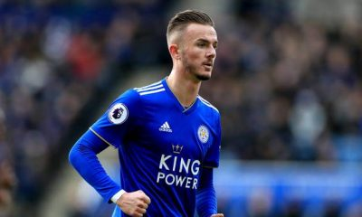 Leicester City midfielder James Maddison in action. (Getty Images)
