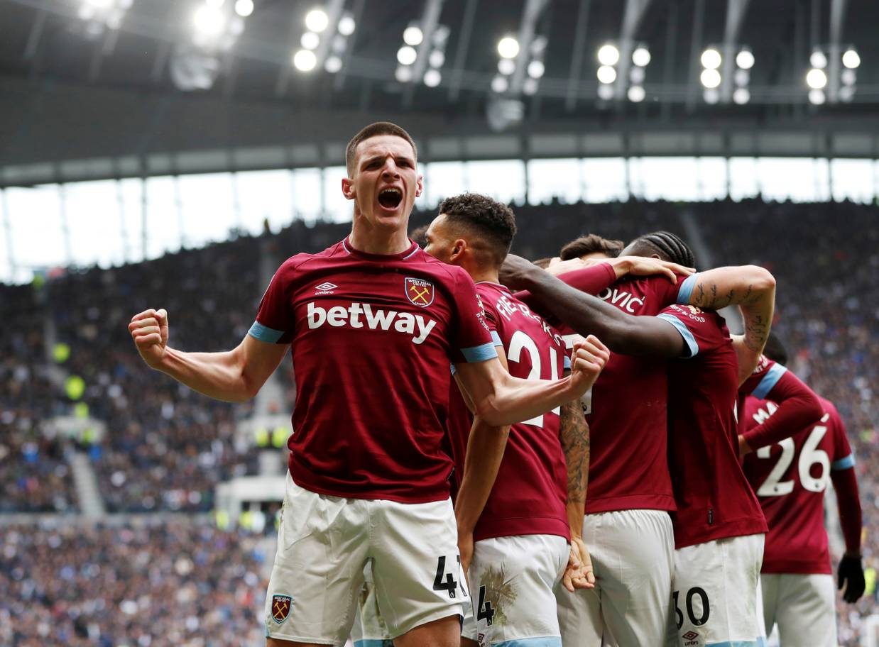 West Ham players celebrate. (Getty Images)