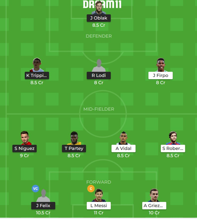 ATL vs BAR dream 11