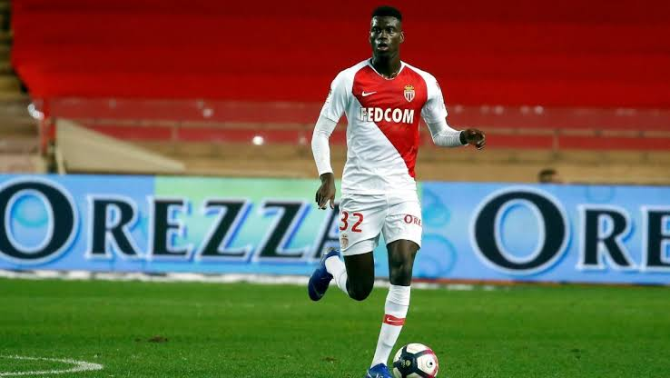 Monaco defender Benoit Badiashile in action. (Getty Images)