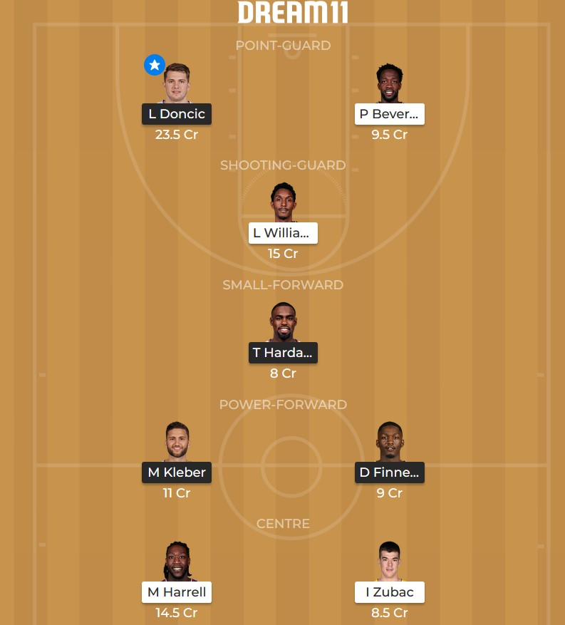Dallas Mavericks vs Los Angeles Clippers Dream 11 line-up