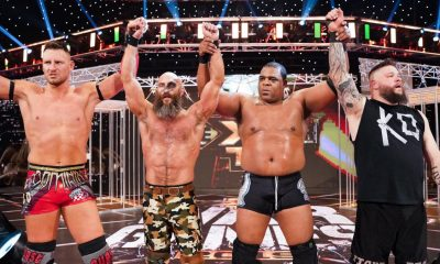 Tommaso Ciampa celebrates with his WarGames team