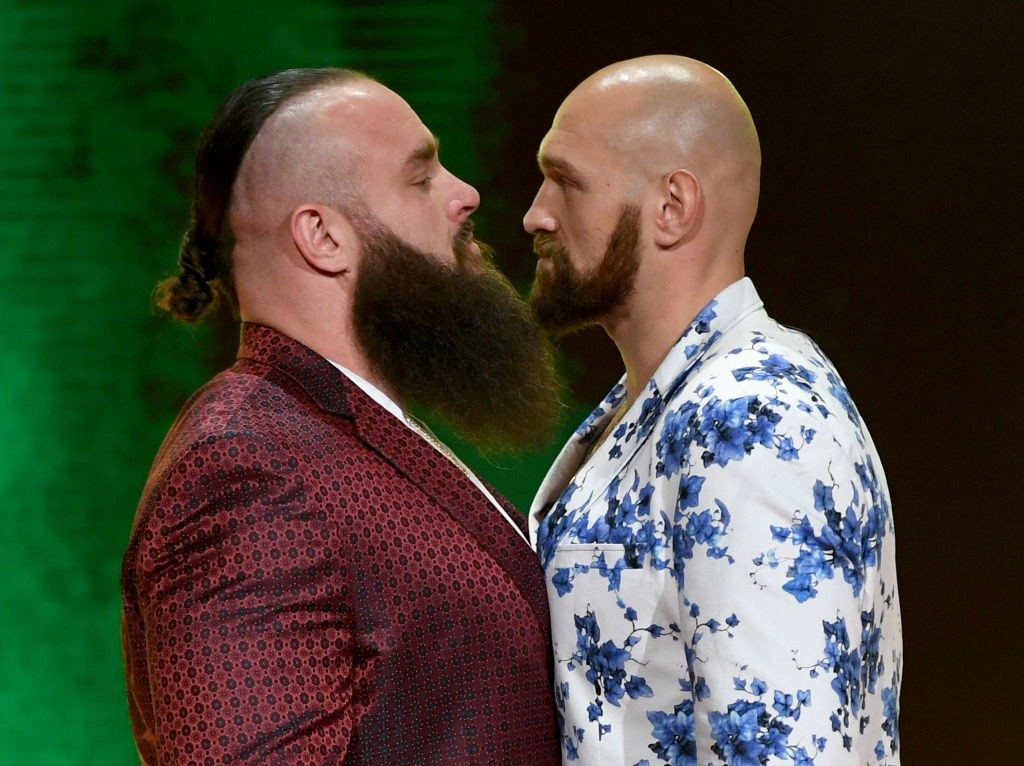 Tyson Fury and Braun Strowman faced off at Crown Jewel 2019