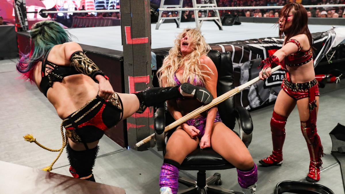 The Kabuki Warriors vs Charlotte Flair and Becky Lynch