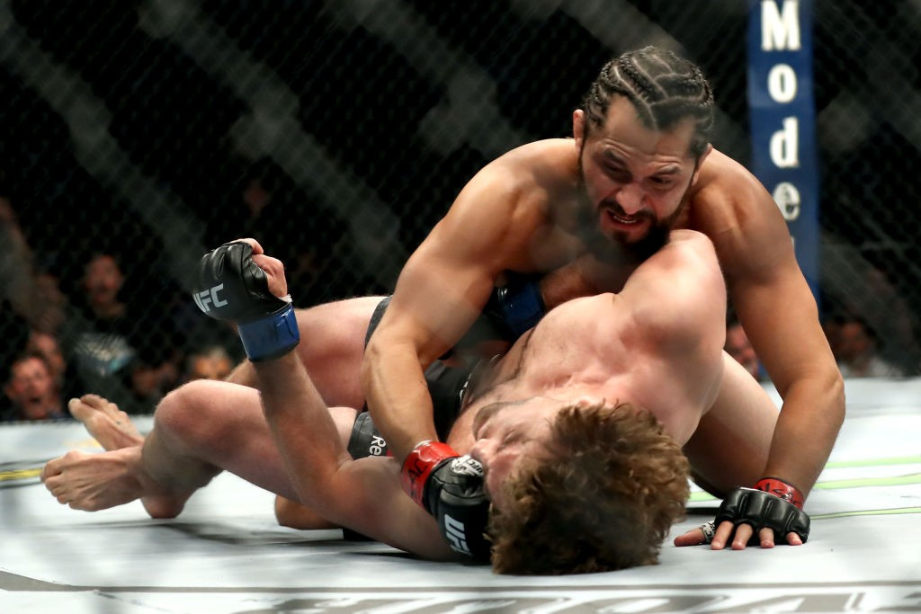 Jorge Masvidal and Ben Askren in action during their infamous UFC fight