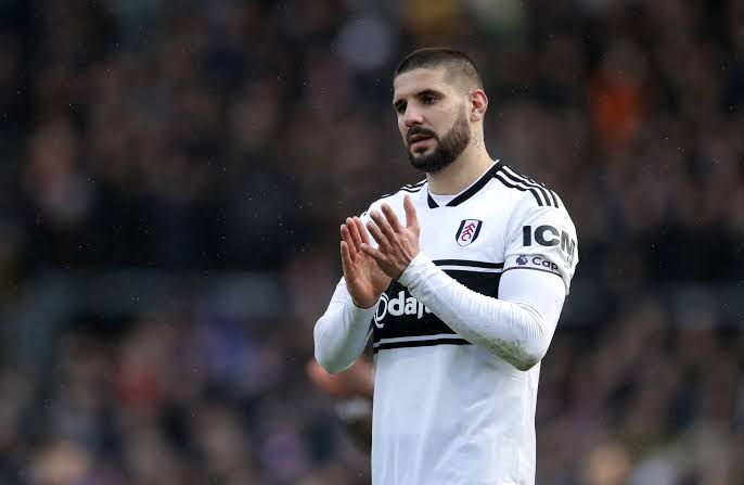 Fulham striker Aleksandar Mitrovic applauds the fans. (Getty Images)