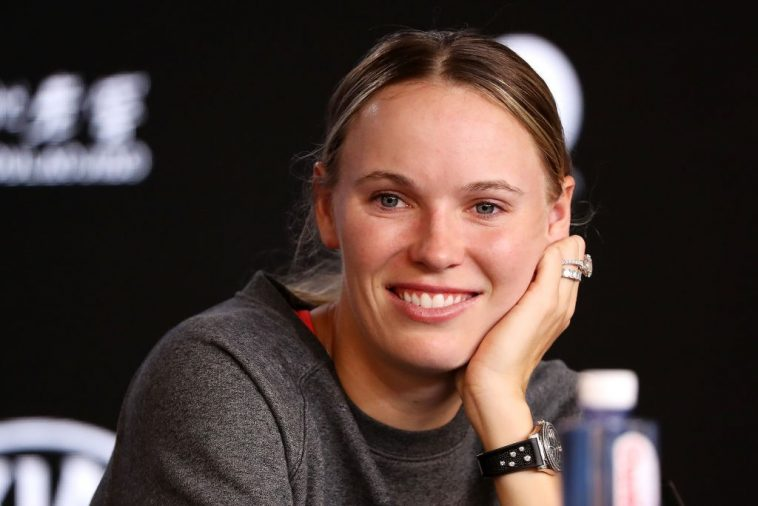 Former World No.1 Caroline Wozniacki during a press conference back in January this year.