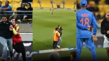 India pitch invader