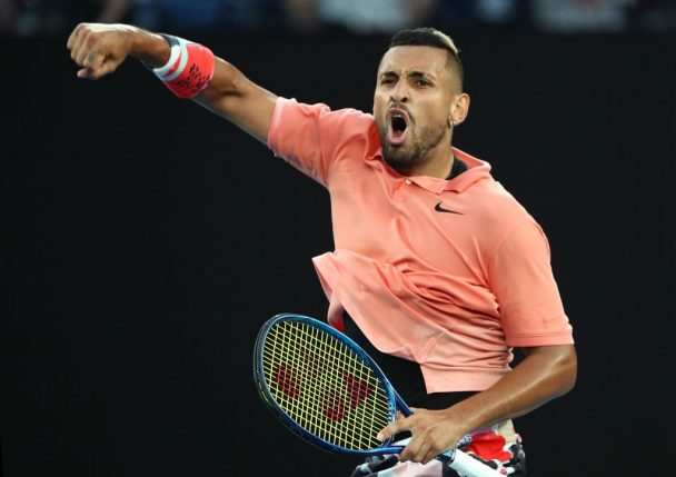 ustralian tennis star Nick Kyrgios has earned the bad boy reputation in tennis recently due to his antics on and off the court.
