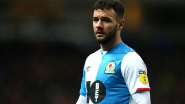 Adam Armstrong of Blackburn Rovers looks on during the Sky Bet Championship match between Blackburn Rovers and Preston North End at Ewood Park on January 11, 2020 in Blackburn, England. (Getty Images)