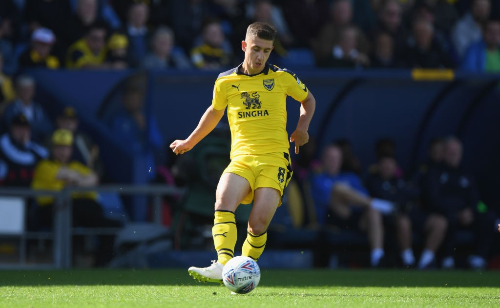 Oxford United player Cameron Brannagan in action during the Sky Bet League One match between Oxford United and Coventry City at Kassam Stadium on September 9, 2018 in Oxford, United Kingdom. (Getty Images)