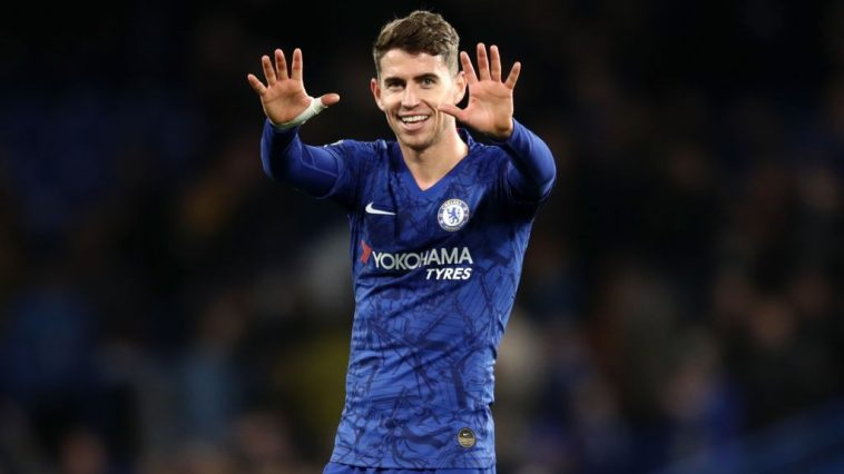 Chelsea midfielder Jorginho reacts in a game. (Getty Images)