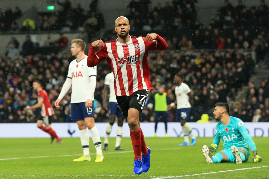 David McGoldrick celebrates after scoring a goal (Getty Images)