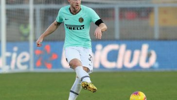 Milan Skriniar of Inter during the Serie A match between US Lecce and FC Internazionale at Stadio Via del Mare on January 19, 2020 in Lecce, Italy. (Getty Images)