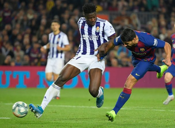 Mohammed Salisu in action against Barcelona (Getty Images)