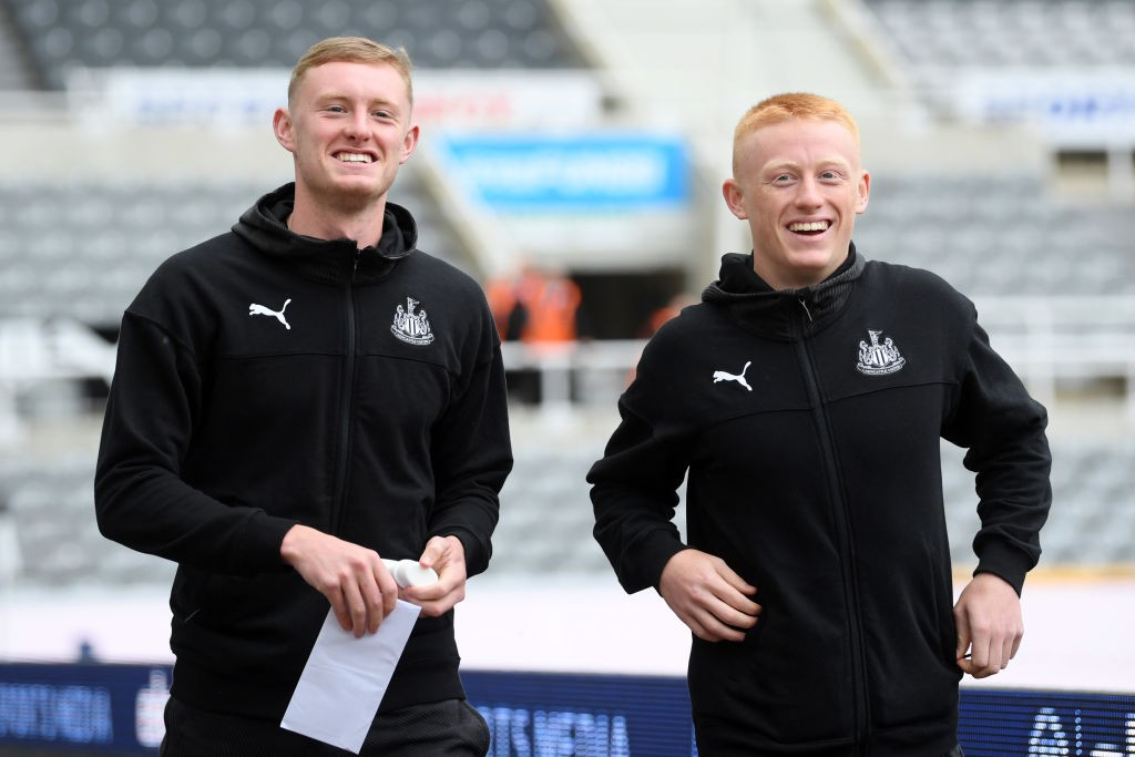 Matty Longstaff (R) with his brother Sean (L) (Getty Images)