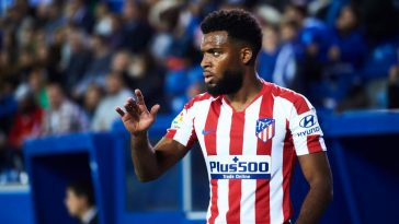 Thomas Lemar of Club Atletico de Madrid looks on during the Liga match between Deportivo Alaves and Club Atletico de Madrid at Estadio de Mendizorroza on October 29, 2019 in VitoriA - Gasteiz, Spain. (Getty Images)