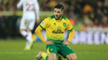 Emiliano Buendia of Norwich City reacts during the Premier League match between Norwich City and Crystal Palace at Carrow Road on January 01, 2020 in Norwich, United Kingdom. (Getty Images)