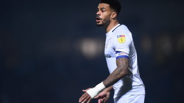 Jordan Willis of Coventry gestures during the Sky Bet League One match between Burton Albion and Coventry City at Pirelli Stadium on November 17, 2018. (Getty Images)