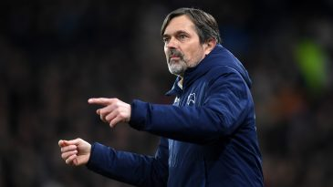 Phillip Cocu, Manager of Derby County looks on during the FA Cup Fifth Round match between Derby County and Manchester United at Pride Park on March 05, 2020 in Derby, England. (Getty Images)