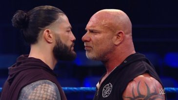Goldberg and Roman Reigns faced-off on this week's SmackDown ahead of their battle at WrestleMania 36