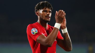 Tyrone Mings in action fr England in the European qualifiers (Getty Images)