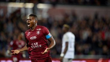 Habib Diallo helped Metz get promoted to the French top flight (Getty Images)