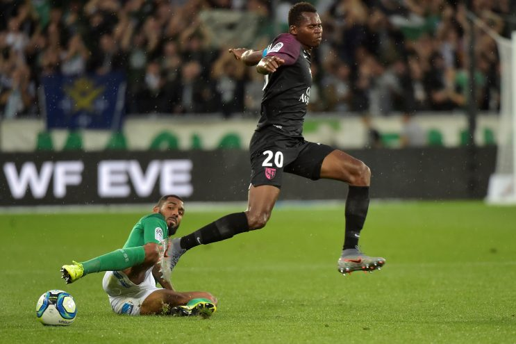 Habib Diallo (R) in action against Saint Etienne in Ligue 1 (Getty Images)