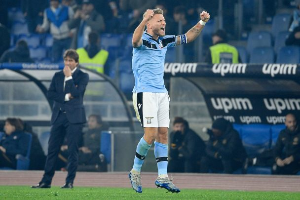 Ciro Immobile celebrates after scoring against Inter Milan in Serie A (Getty Images)