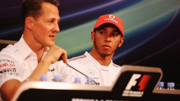 Lewis Hamilton and Michael Schumacher