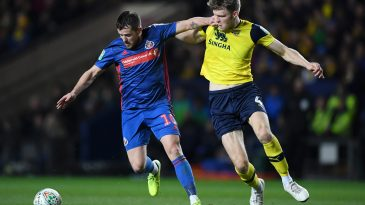 Rob Dickie (R) in action against Sunderland (Getty Images)