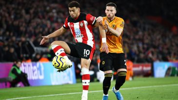 Che Adams (L) in action against Wolves (Getty Images)