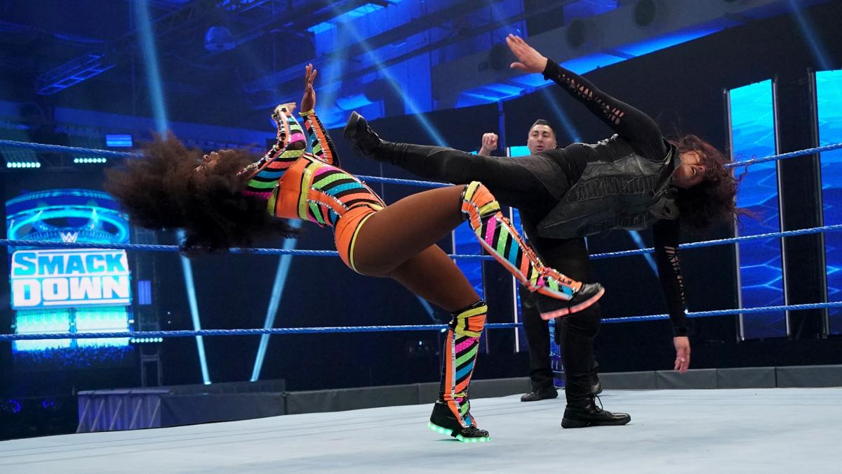 Tamina was dominant against Lacey Evans and Naomi