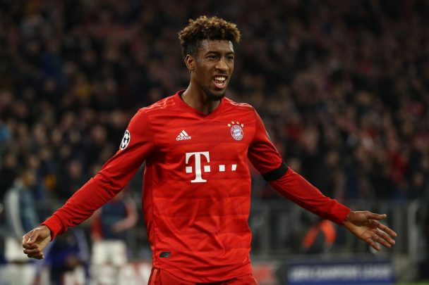 Kingsley Coman celebrates after scoring a goal (Getty Images)